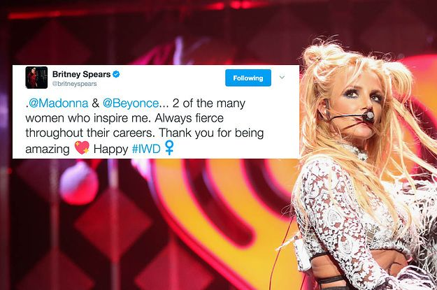 Britney Just Praised Beyoncé And Madonna For International Women's Day