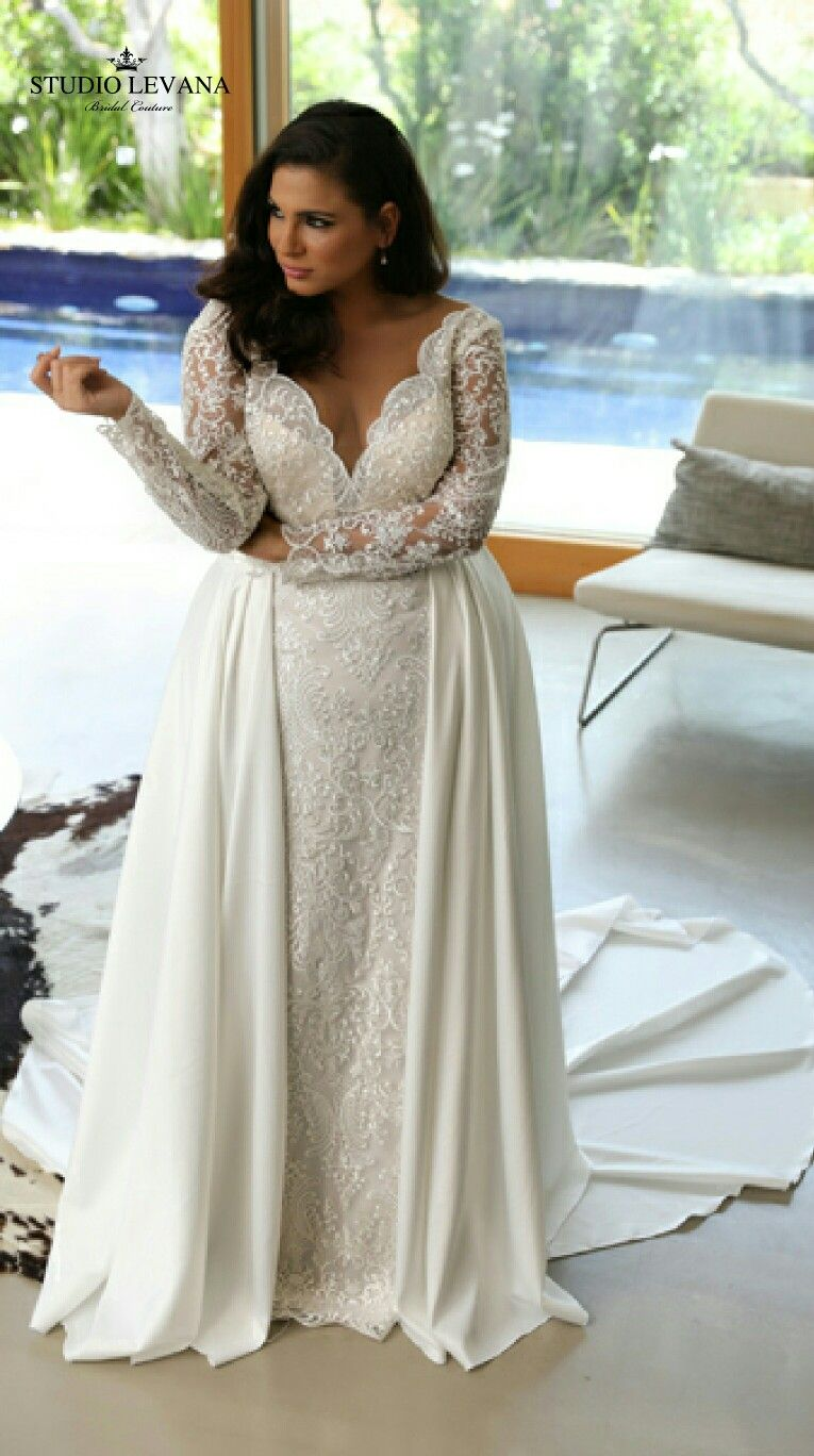 Plus size white wedding dresses  Pure luxury for a plus size bride  Wedding Stuff  Pinterest