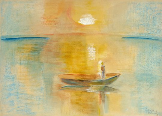 Egry József - Balatoni naplemente, 1935 körül