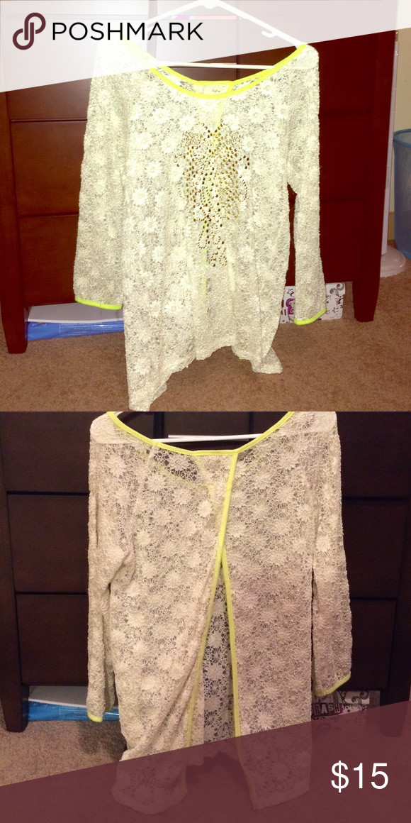 Sweater Open back & lace Daytrip Sweaters Cardigans
