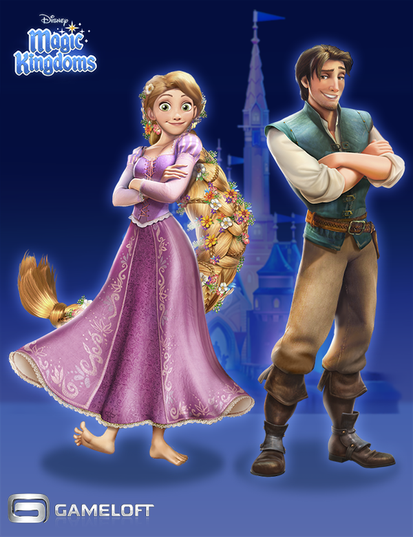 Tangled Characters Disney Magic Kingdoms by IriusAbellatrix