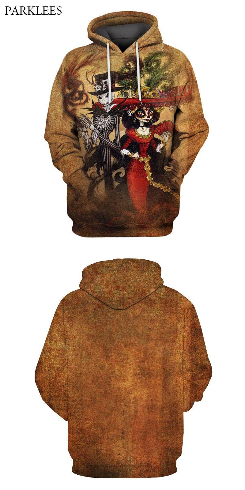 1a6645916365 Men s Hoodies Sweatshirts 3D Skull Printed Hooded Sweatshirt 2018 Brand New  Design Hoodie Pullover Harajuku Hipster Sweat Homme