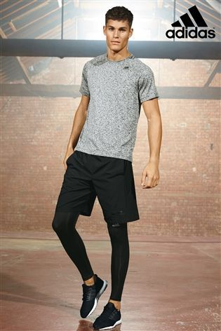 Buy adidas Gym Grey D2M T Shirt from the Next UK online shop