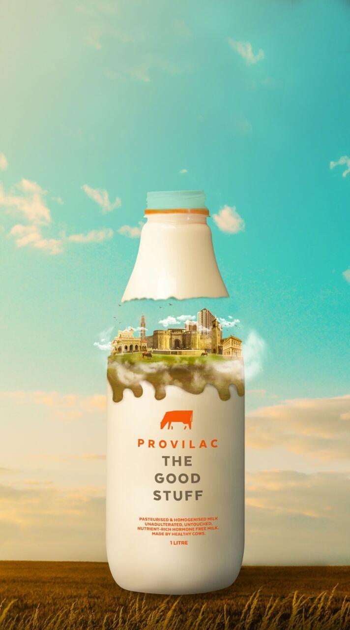 Milk Provilac Creativity Bottle Advertising Organic Food Packaging
