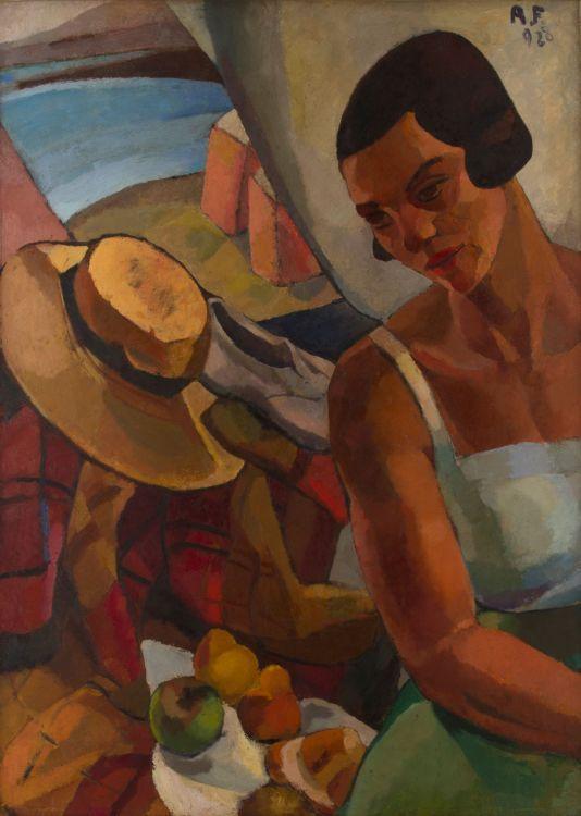 Bañista (1928) Oleo sobre cartón - Raquel Forner (Argentina 1902-1988) Museo Nacional de Bellas Artes de Buenos Aires
