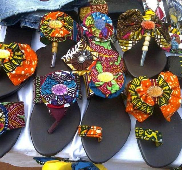 9dc42ab1c99891 diy sandals with African fabrics