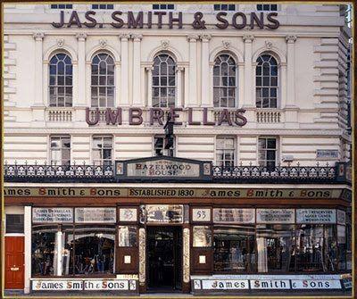 """Tweedland"" The Gentlemen's club: James Smith & Sons - Hazelwood House, 53 New Oxford Street, London"