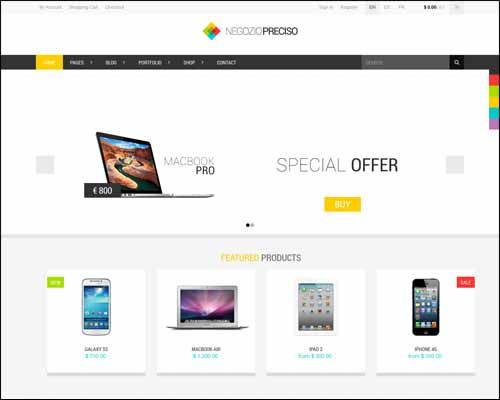Best Responsive ECommerce WordPress Themes Designrazzi Http - Wordpress ecommerce templates