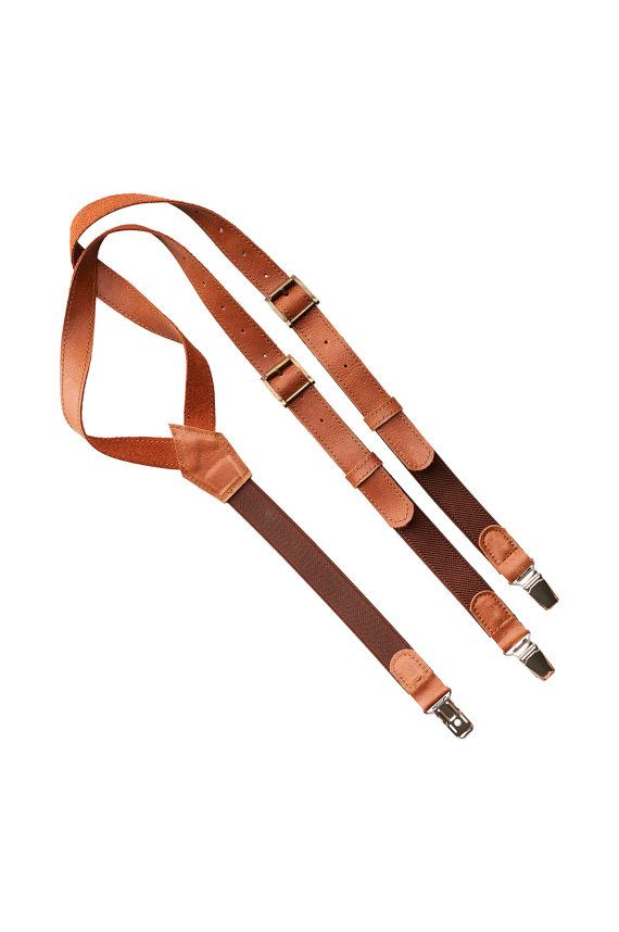 Unique brown leather suspenders , christmas gifts for him, wedding suspenders, christmas gifts for boyfriend, xmas gifts for men