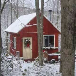 Little Red Shed In The Woods Cute Little Houses Cabins And Cottages Tiny Cottage