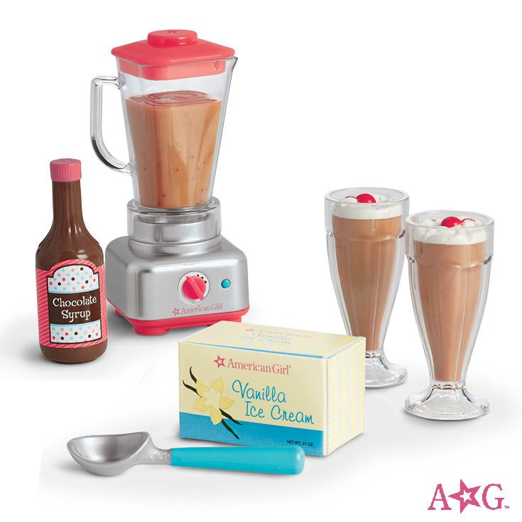 Blender & Milkshake Set #dollaccessories