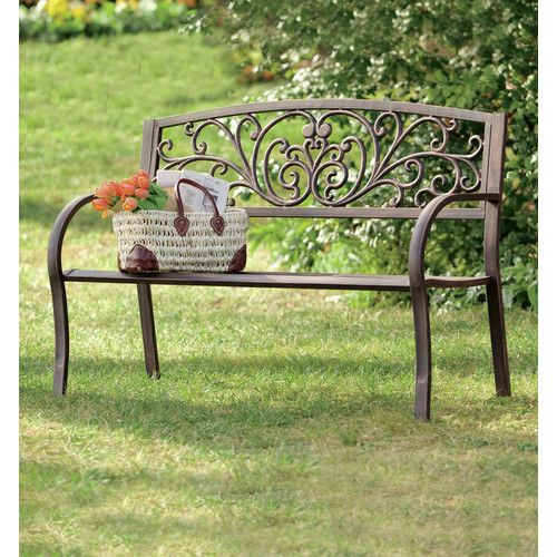 Enjoyable Found It At Wayfair Blooming Iron Garden Bench House In Machost Co Dining Chair Design Ideas Machostcouk