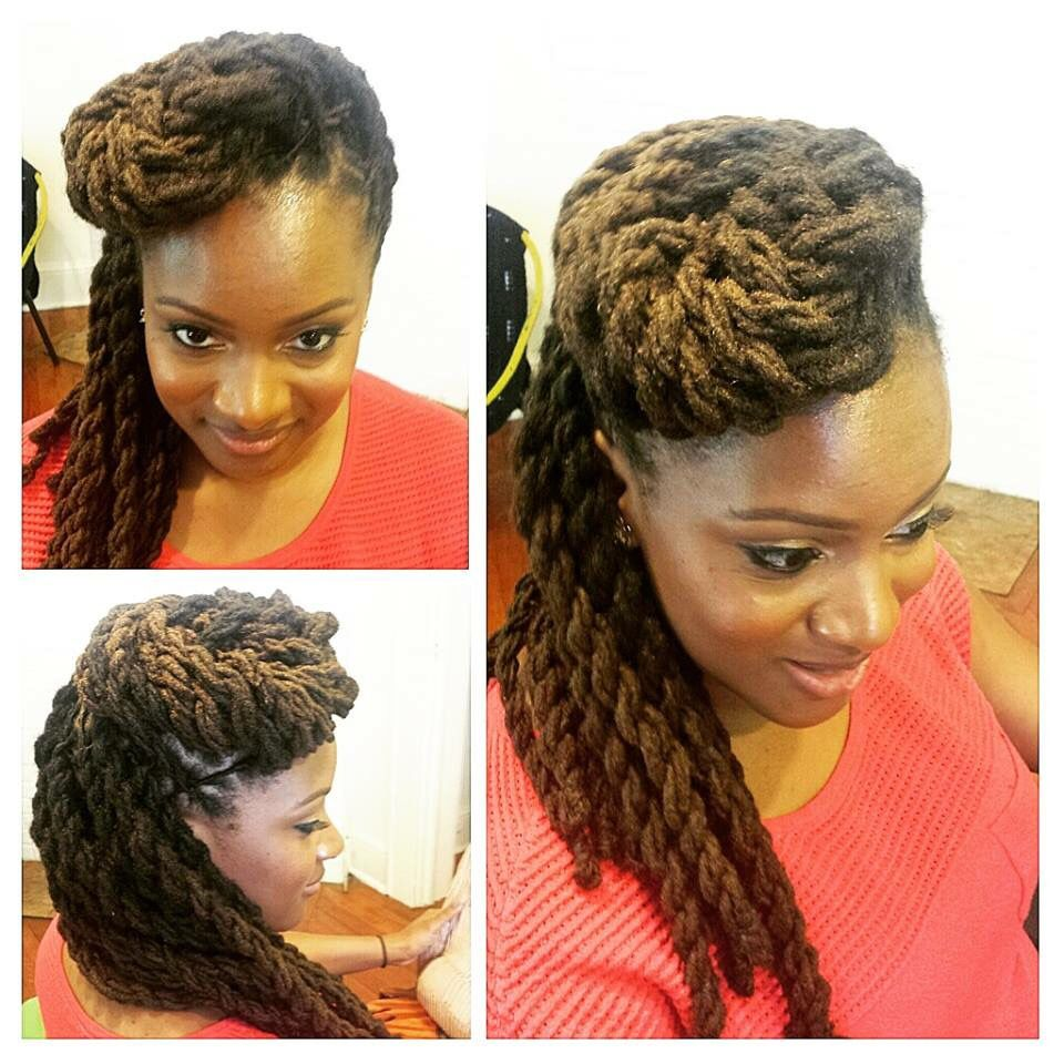 I love this sophisticated look Dreads styles in Pinterest