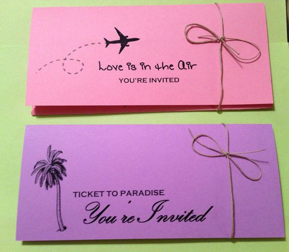 Beach Wedding!! Destination Wedding \/ Airline Ticket Invitation on - airline ticket invitation