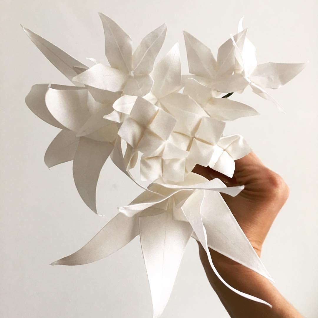 White silk origami wedding flowers studio time pinterest white white silk origami wedding flowers izmirmasajfo