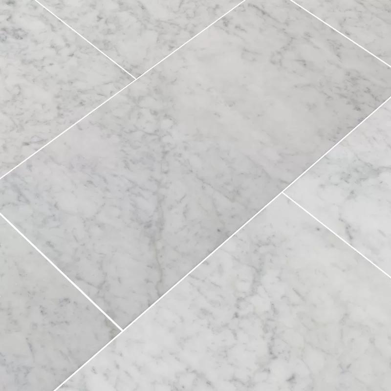 "Carrara 12"" x 24"" Marble Field Tile in 2020 Tile floor"