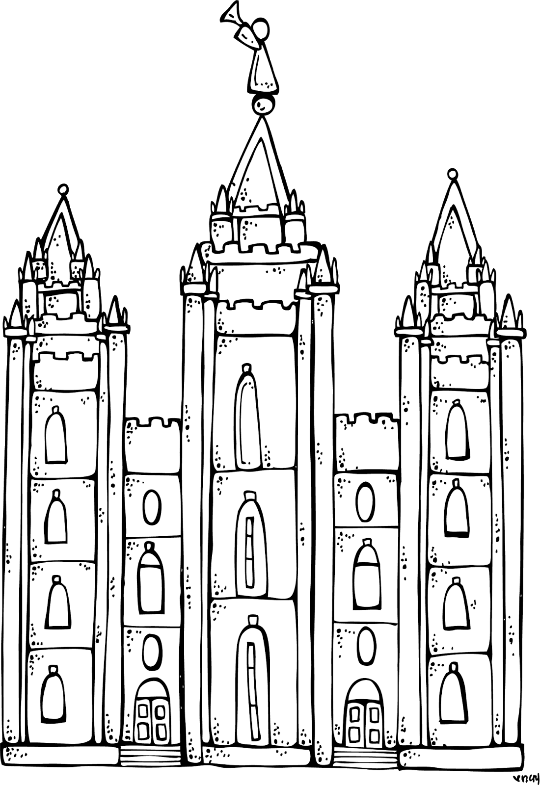 melonheadz lds illustrating i love to see the temple coloring page and salt lake city temple [ 1100 x 1600 Pixel ]
