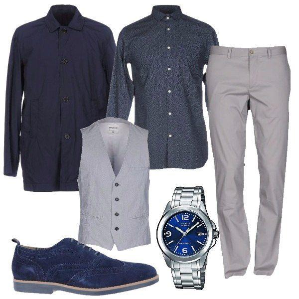 55b38b0635 Uomo in grigio e blu: outfit uomo Business/Elegante per tutti i ...