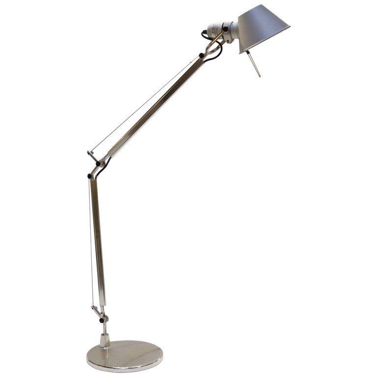 Michele De Lucchi Table Lamp Artimede Tolomeo Desk Floor Lamp Italian Mid Century Modern Steel Aluminum Floor Lamp Lamp Silver Floor Lamp
