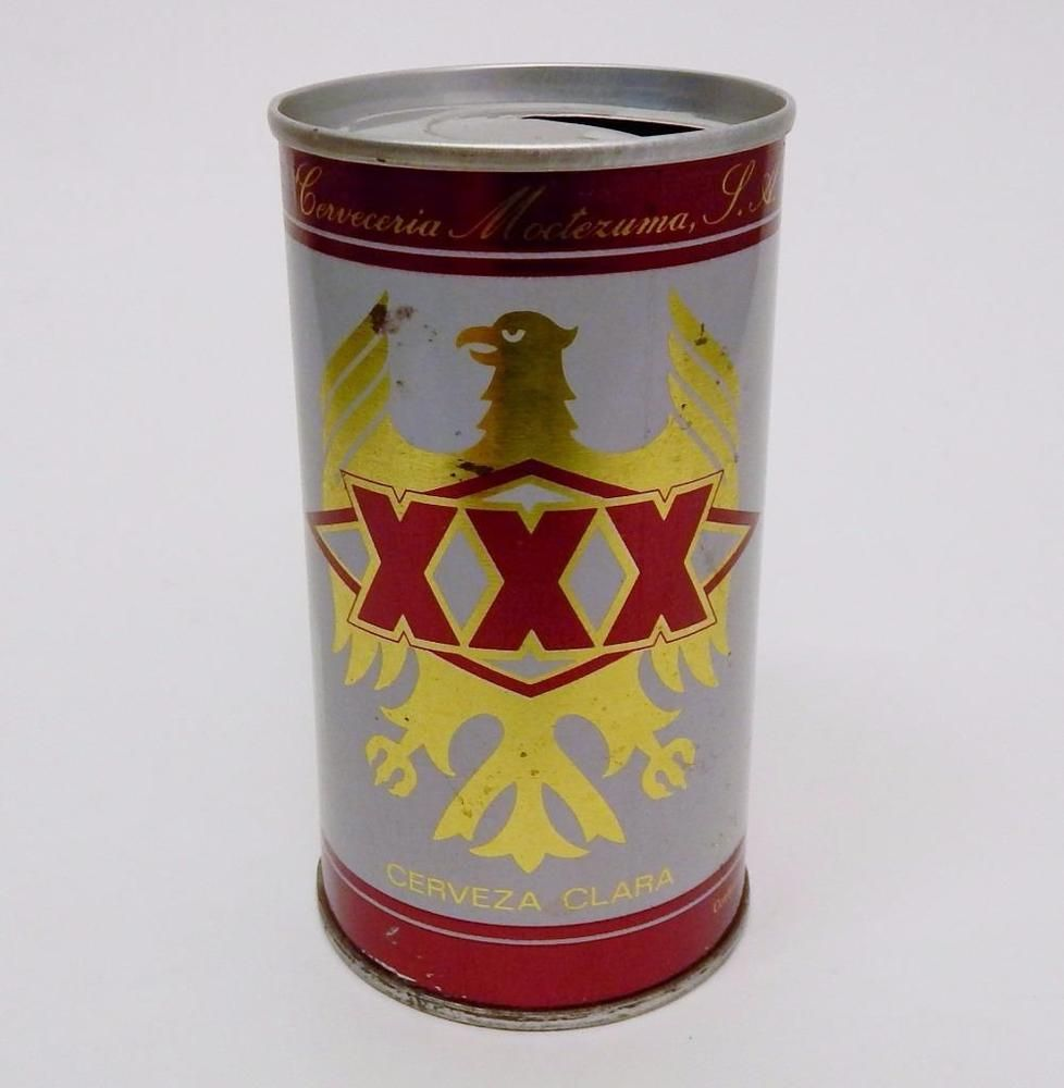 Homemade Mexican Xxx for vintage xxx cerveza clara mexico rolled steel pull tab mexican