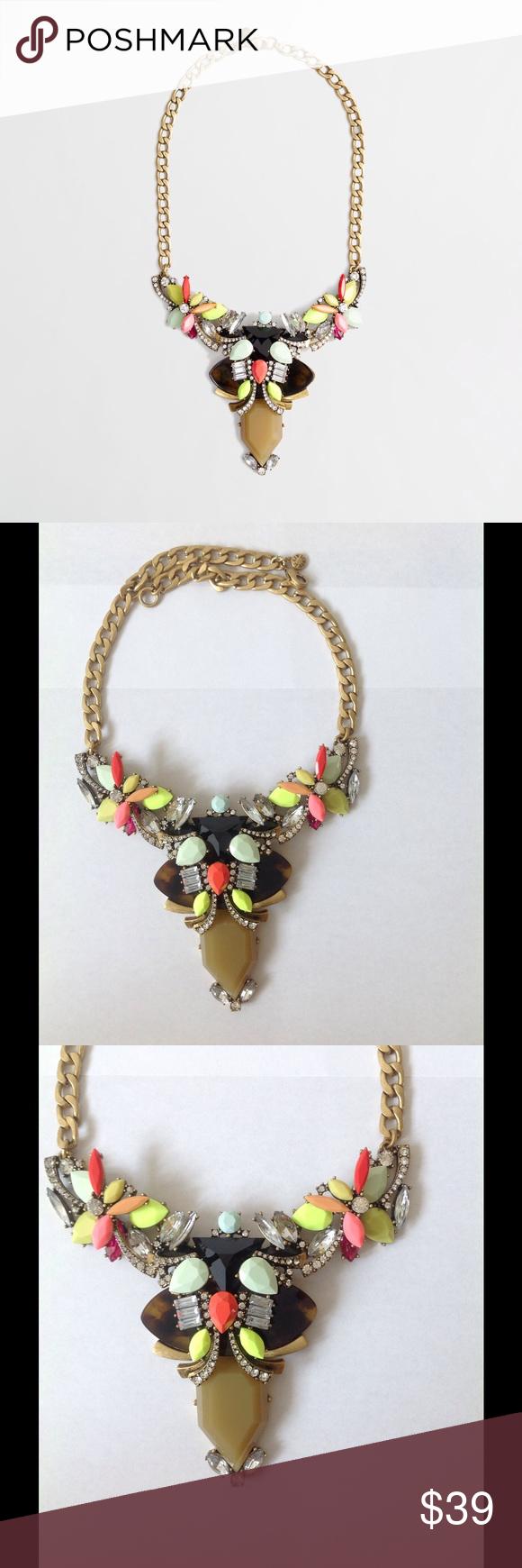 Sold j crew neon pendant necklace my posh picks pinterest