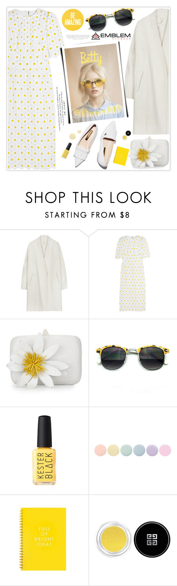 """No 328:Spring with Emblem Eyewear"" by lovepastel ❤ liked on Polyvore featuring Dolce&Gabbana, Rupert Sanderson, Nancy Gonzalez, Deborah Lippmann, Givenchy and Vince"