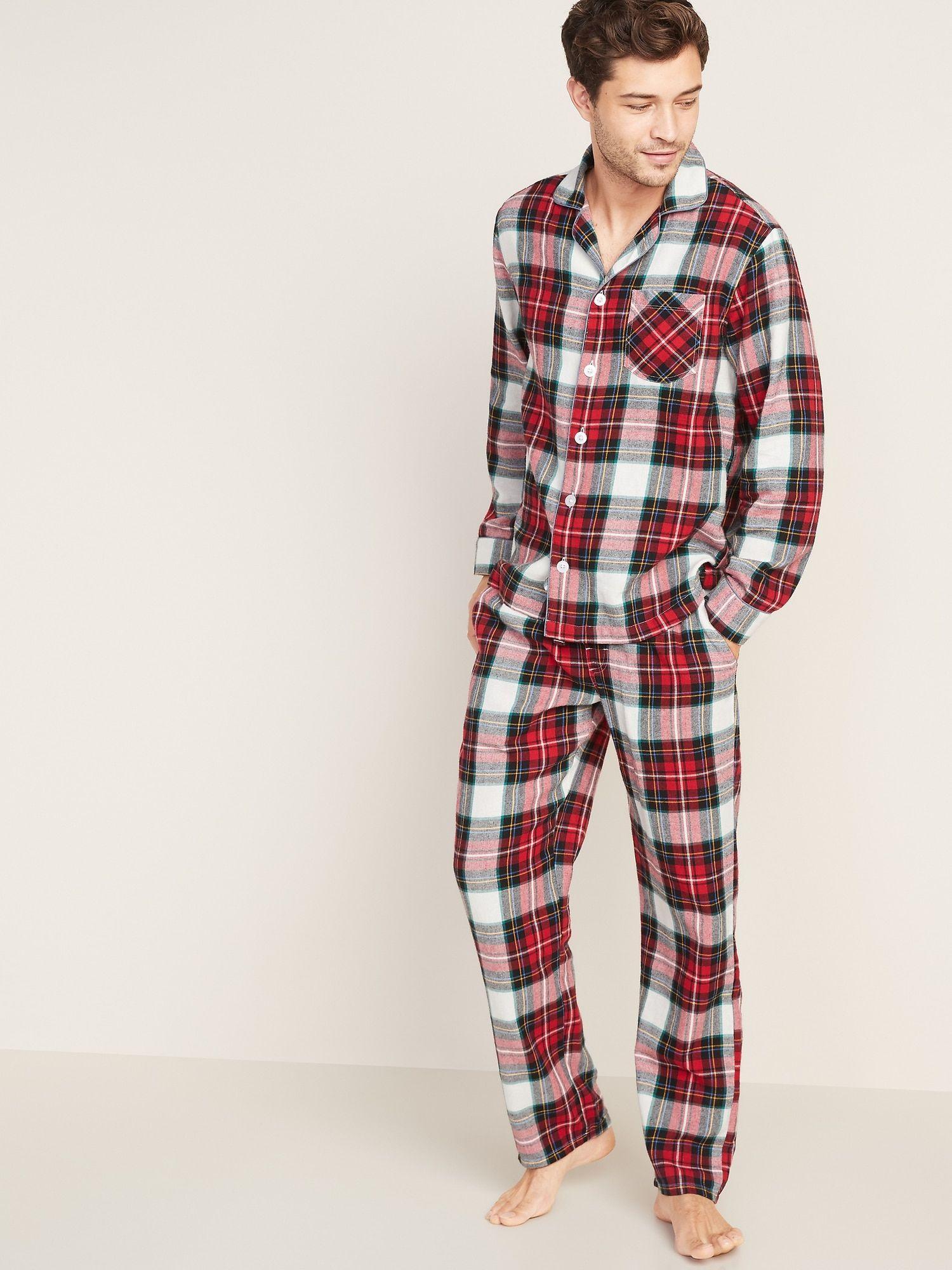 Patterned Flannel Pajama Set for Men Old Navy in 2020
