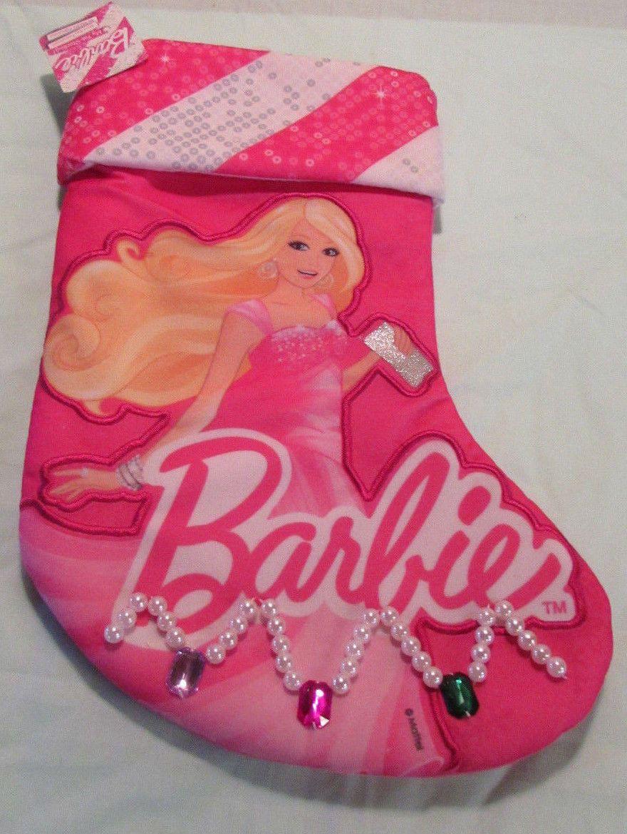 Barbie Doll Christmas stocking Holiday nwt blonde Mattel