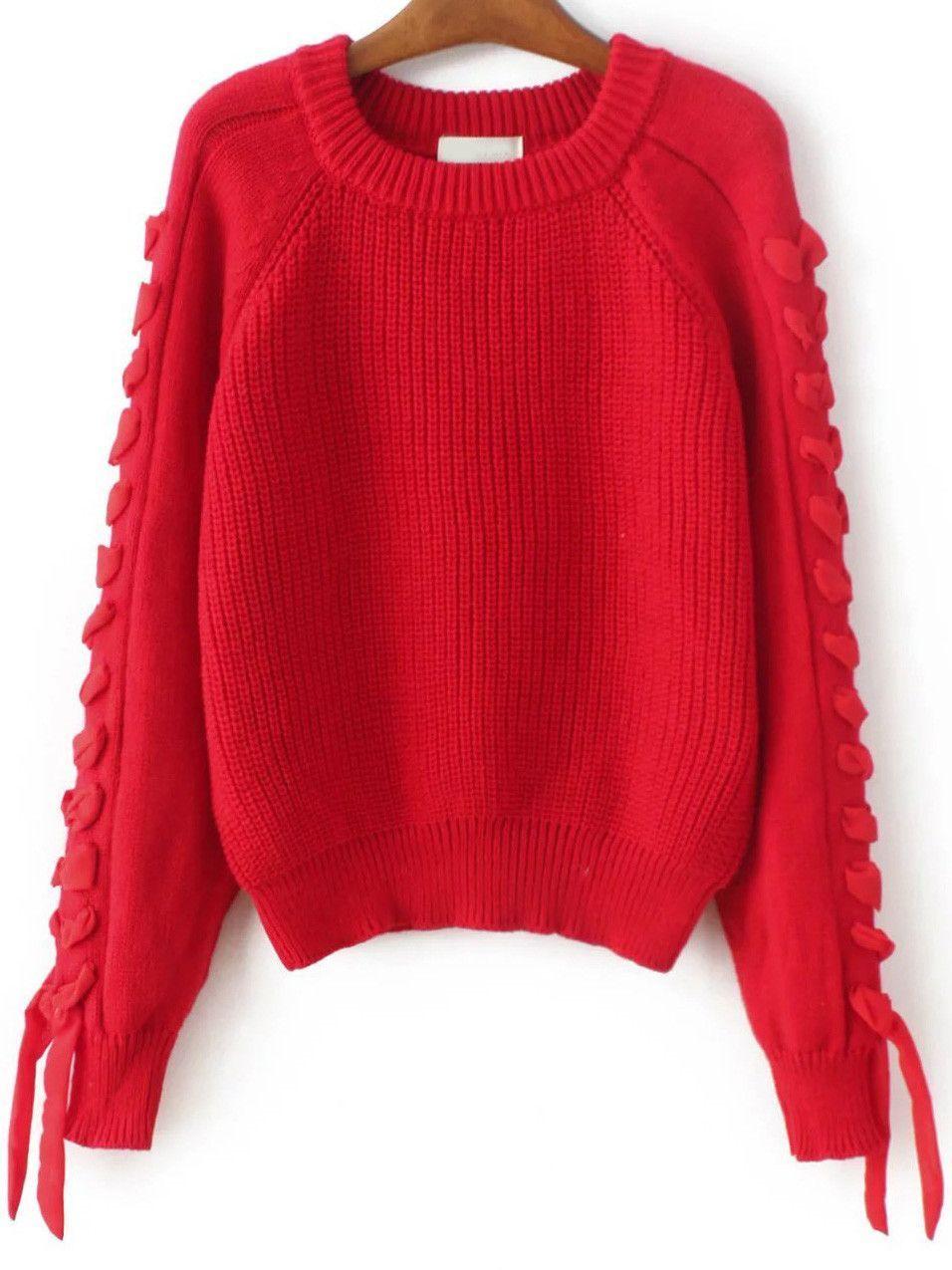 4af7082943 Oversized Red Sweater