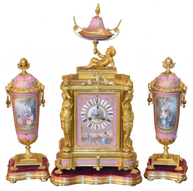 Very Fine French Sevres 3-piece Garniture : Lot 616