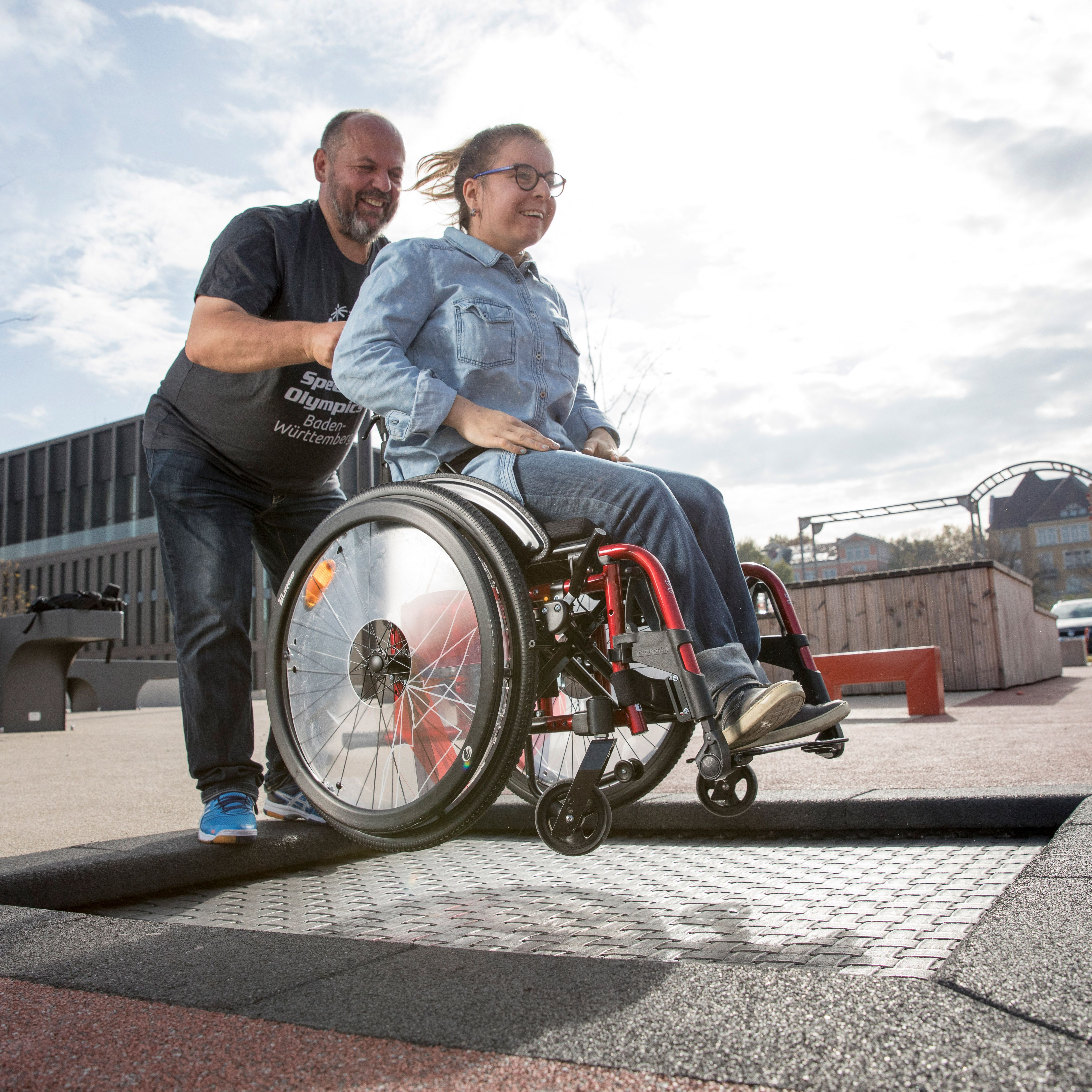 Inclusive Playground Trampoline Suitable For Wheelchairs According To Din En 1176 Zirkus