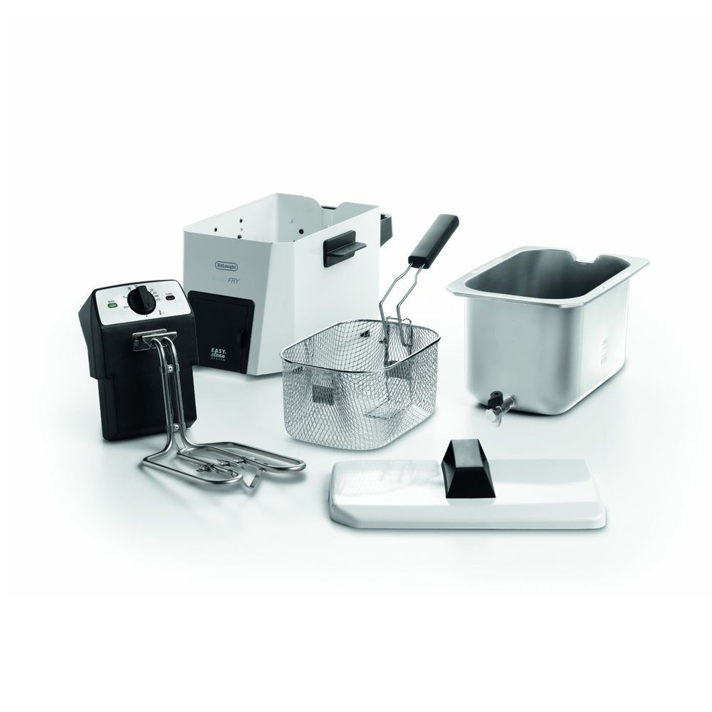 Deep Oil Fryer DeLonghi Electric Counter Top Stainless Steel ...