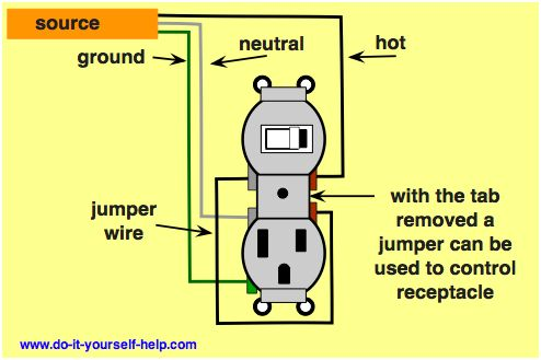 wiringplug on wiring in the home switch conversion gfci. Black Bedroom Furniture Sets. Home Design Ideas