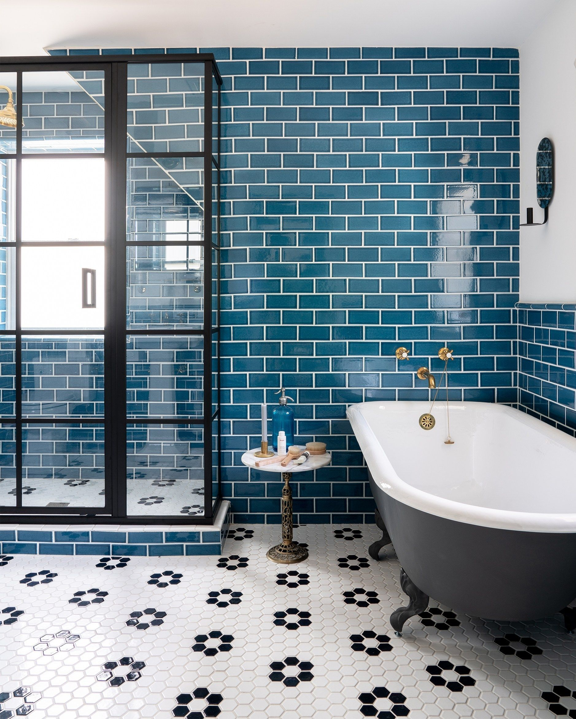 Bold Colorful Bathroom Tile Centsational Style Colorful Bathroom Tile Bathroom Style Bathroom Interior