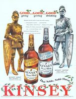 Kinsey Gold and Silver Whiskey 1994 Ad Picture