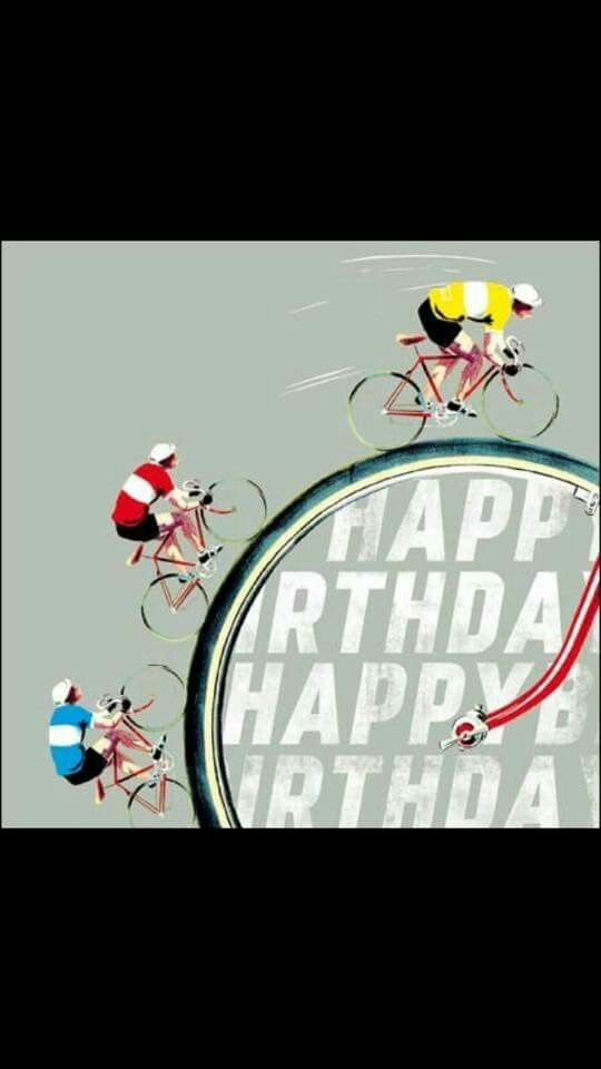 S270 Cycling birthday lmfcardscouk – Bicycle Birthday Cards
