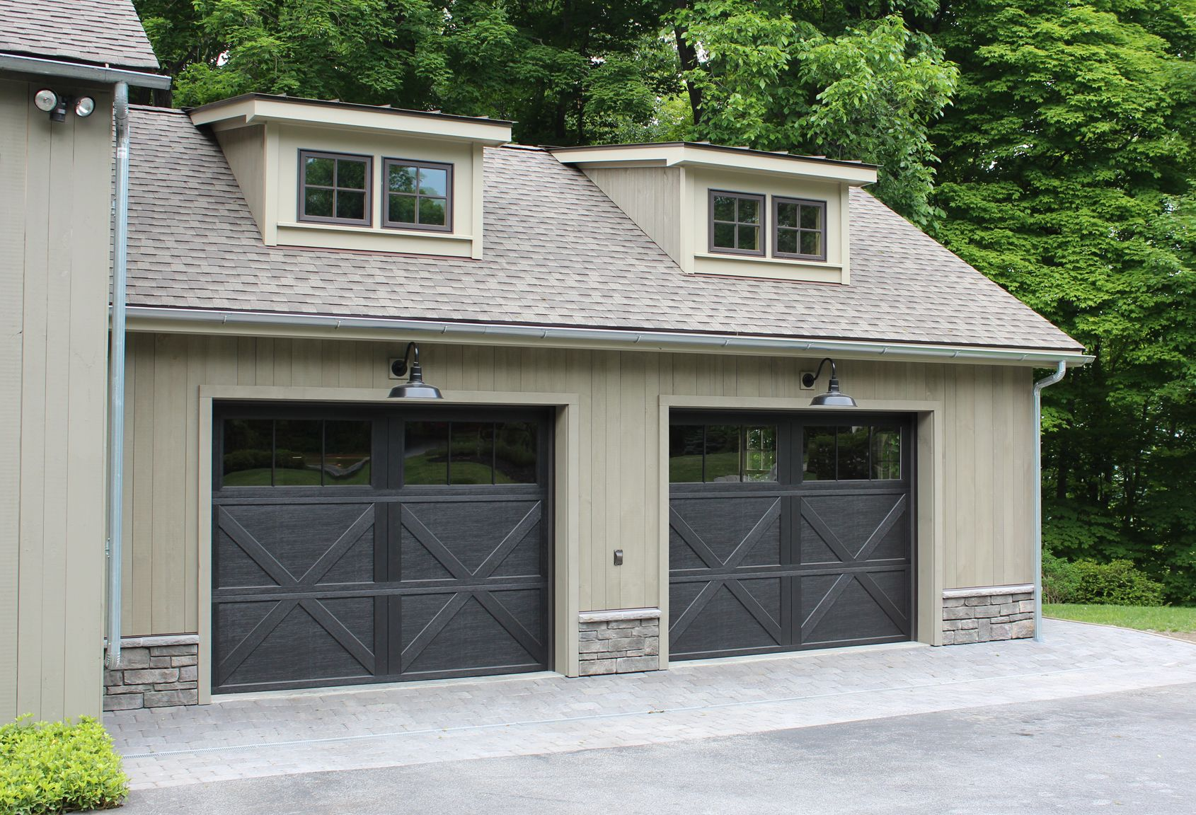 Wayne Dalton 9700 Overhead Door in custom black. Installed by Dutchess Overhead Doors INc & Wayne Dalton 9700 Overhead Door in custom black. Installed by ...