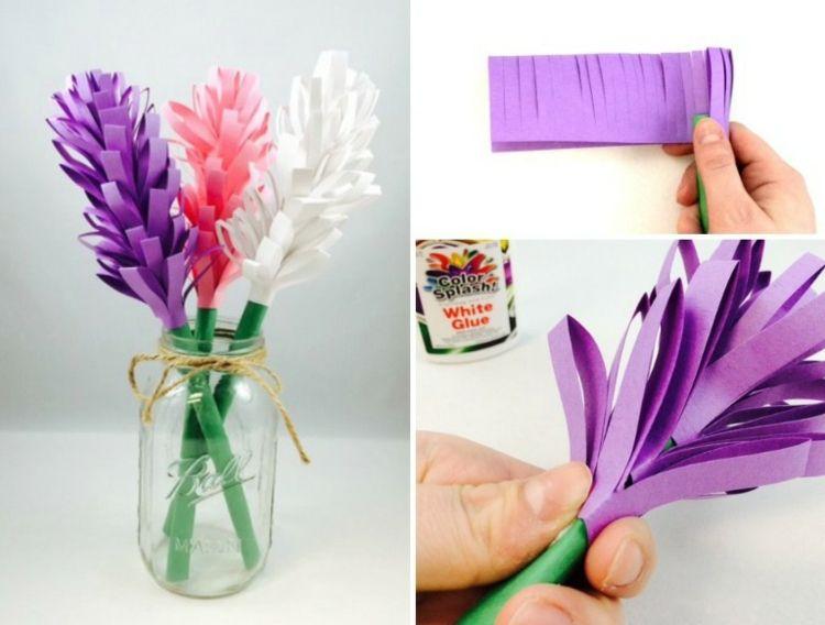 Papierblumen Basteln Mit Kindern Hyazinthe Selbermachen Anleitung