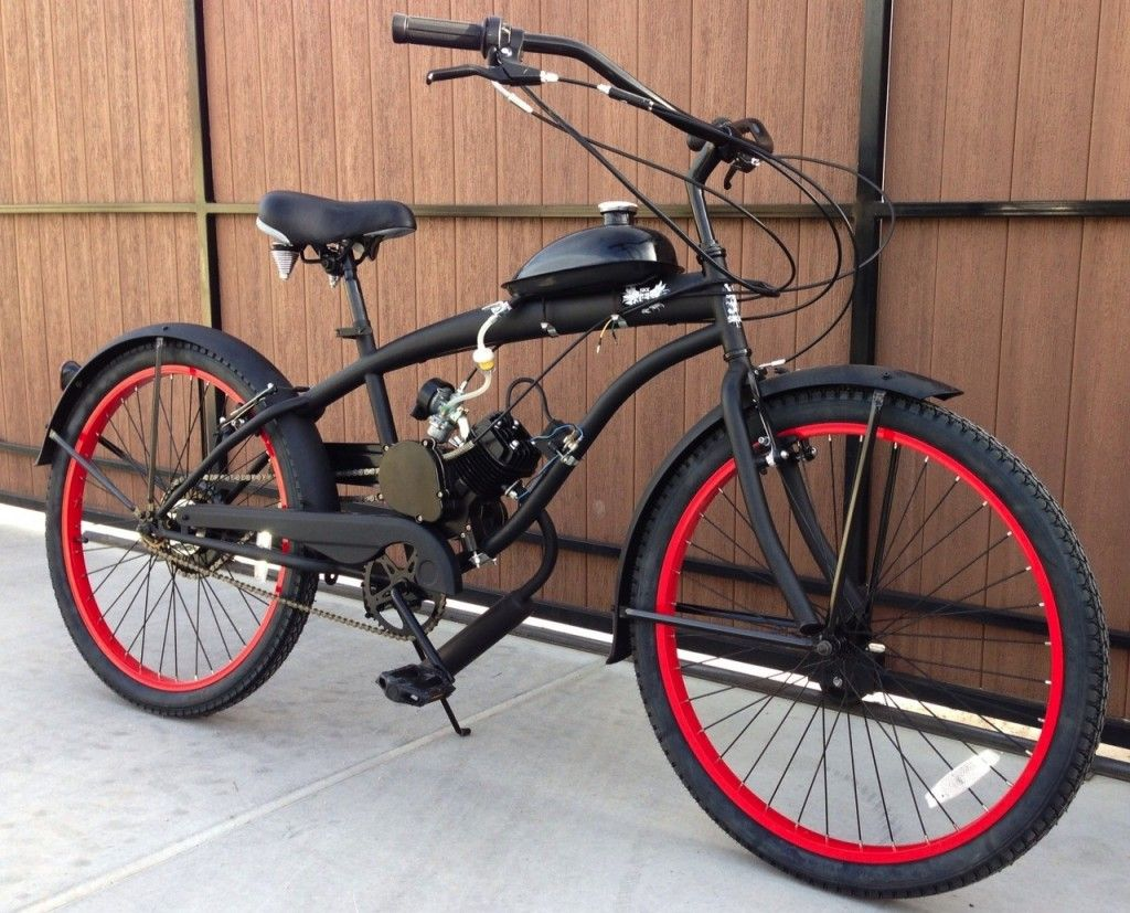 Custom motorized beach cruiser kit bama 39 s cruisers for Custom motorized bicycles parts