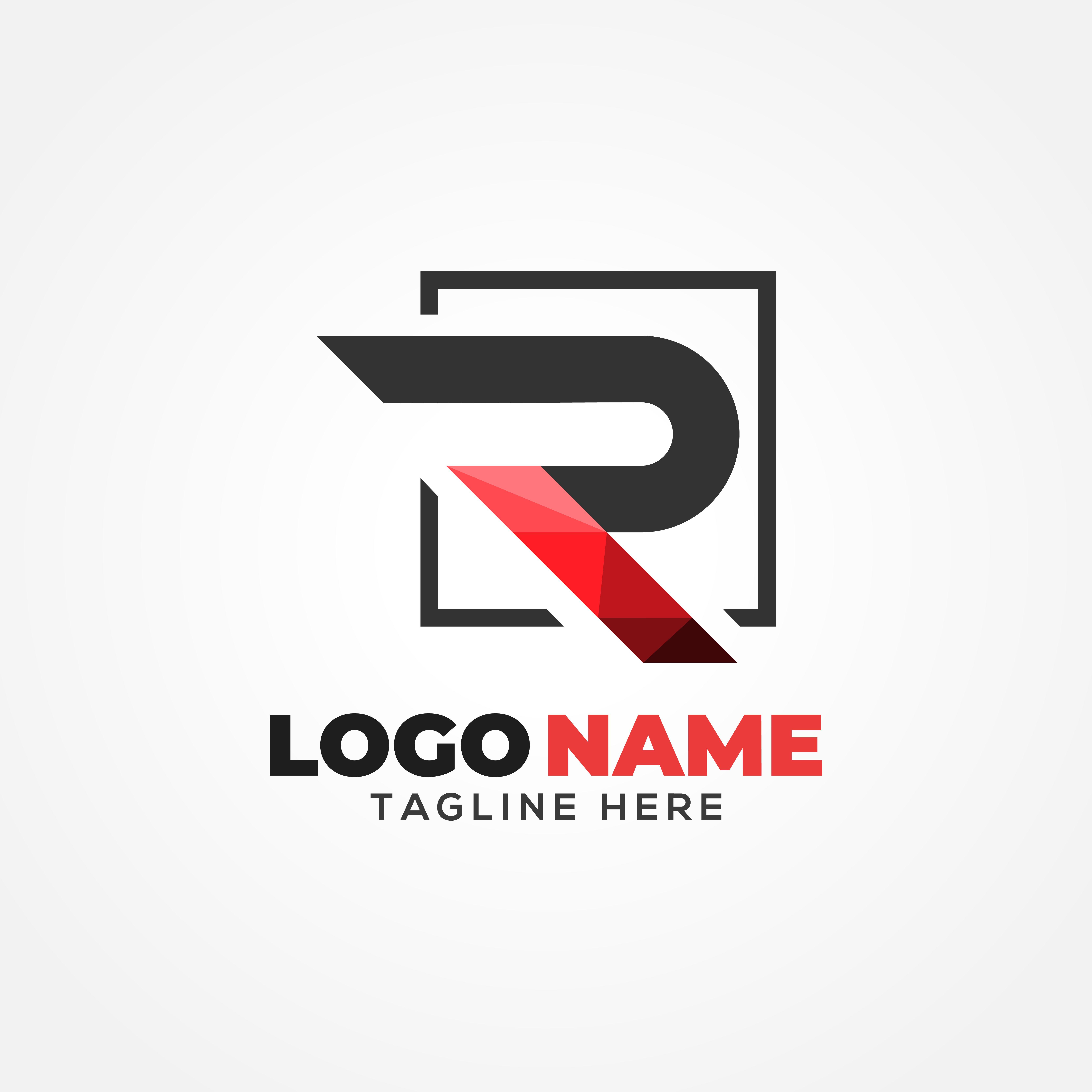 R Letter Logo Template logo_design, graphic_design,