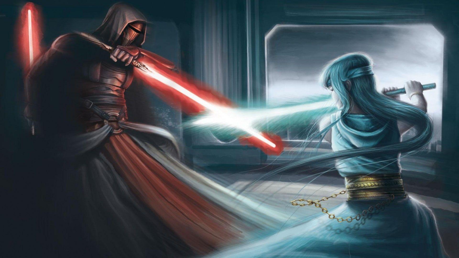 Darth Revan Fighting Lightsaber Star Wars Star Wars Knights Of