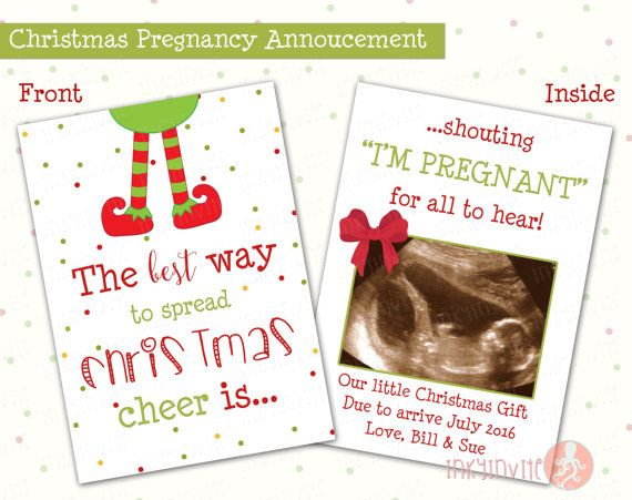 Pregnancy Announcement Christmas Card | The Best Way To Spread Christmas  Cheer | Funny Announcement |
