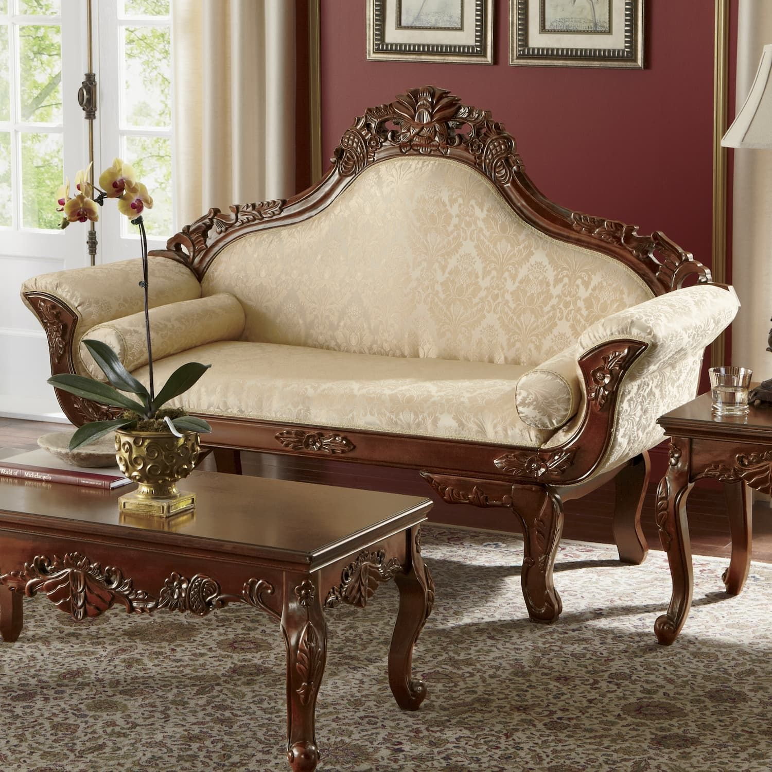 Florencia Carved Loveseat Carved Sofa Wooden Sofa Designs