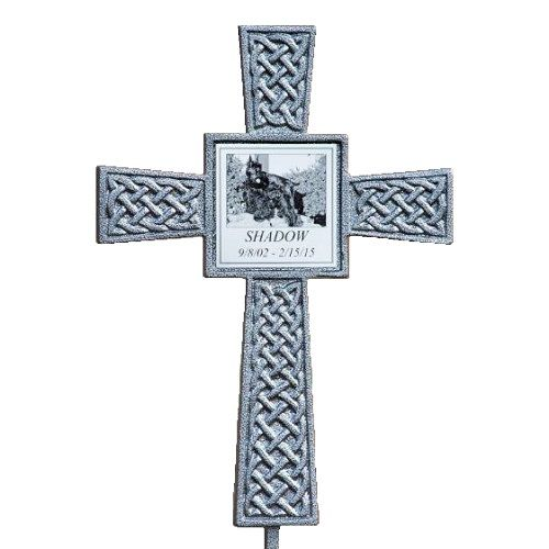 The Silver Photo Celtic Pet Memorial Cross Is A Newly Developed Outdoor Tribute And Offers Wonderful Way To Honor Memory Of Lost Companion Animal