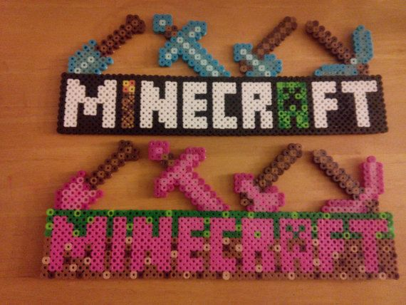 Hey, I found this really awesome Etsy listing at https://www.etsy.com/listing/221485618/perler-bead-minecraft-sign
