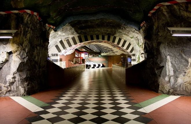 Stockholm subway station.