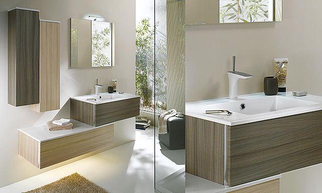 2 Tiroirs Decales Miroir Et Deux Colonnes Lido Majik First Relooking De Petite Salle De Bain Salle De Bain