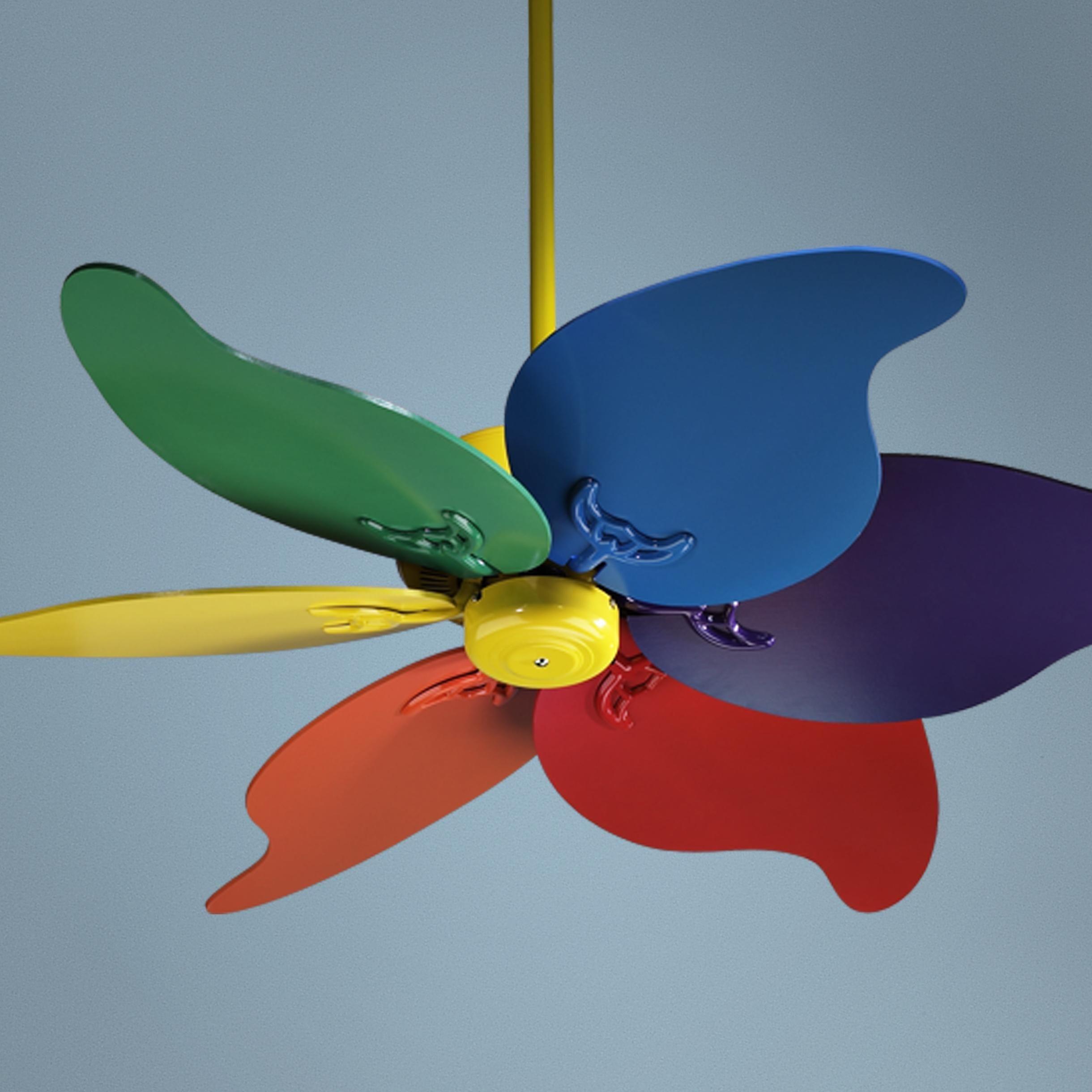 46 Quorum Pinwheel Multi Colored Ceiling Fan
