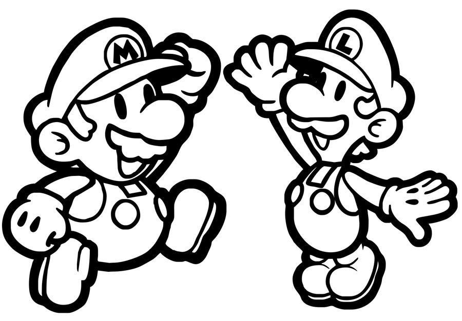 Mario ausmalbilder kostenlos Ausmalbilder Mario und