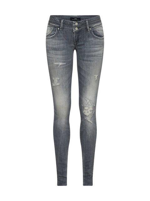 Low-rise-Jeans »JULITA X« #crochetedearrings